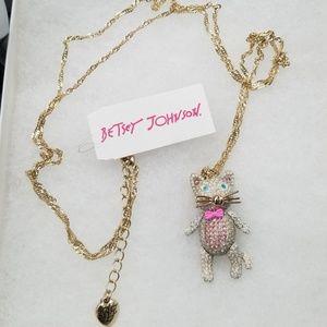 Betsy Johnson necklace, cat